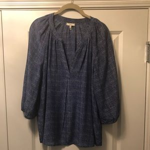Joie Blue Printed Blouse - M